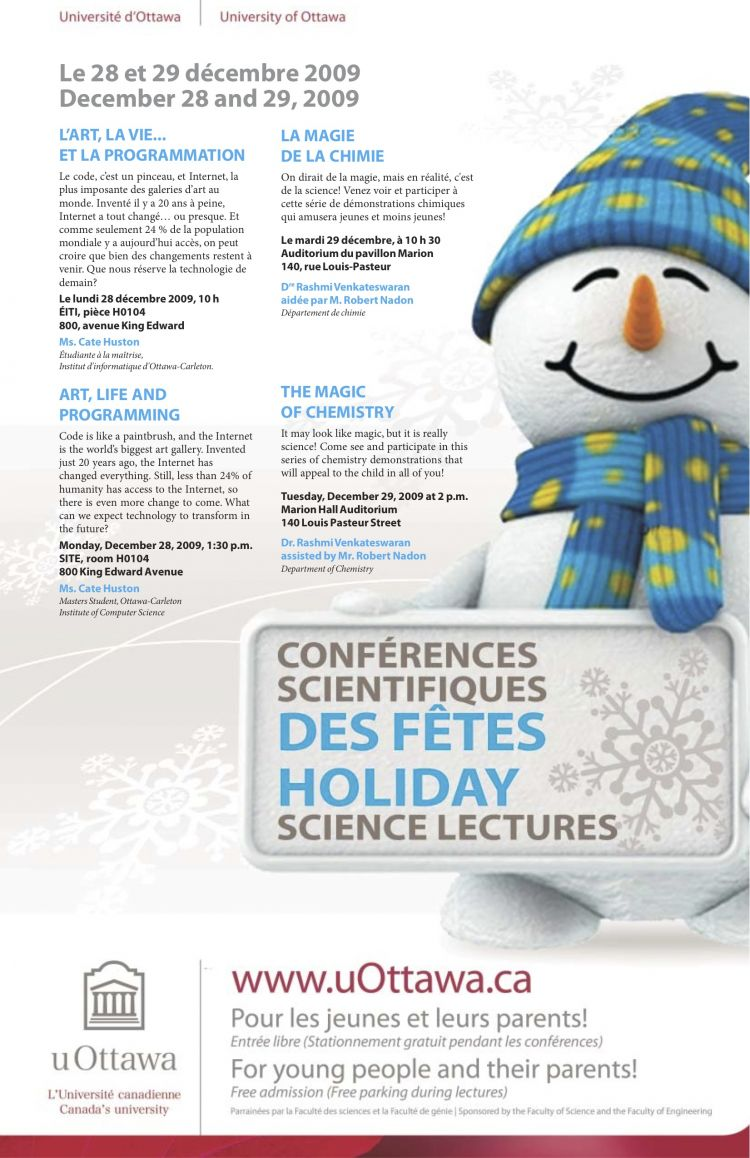 Holiday Science Lecture Poster