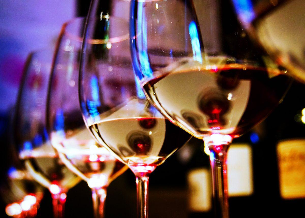 Wine Glasses at the Vines of Mendoza