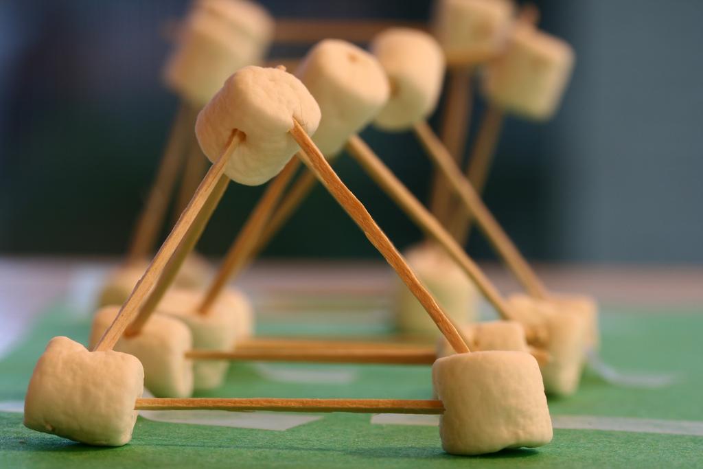 Shapes: Marshmallow Pyramids