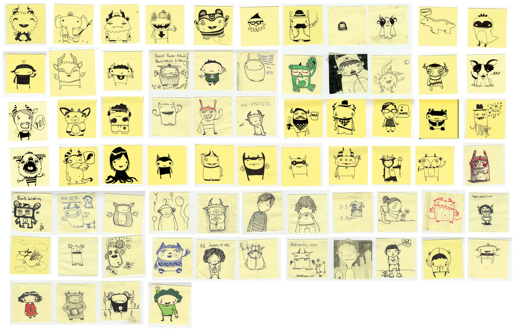 Post-it Monsters