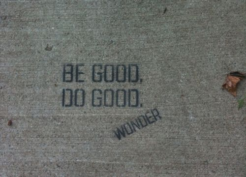 be good do good wonder