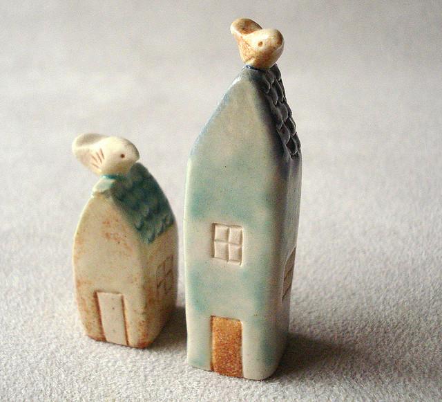 tiny clay houses