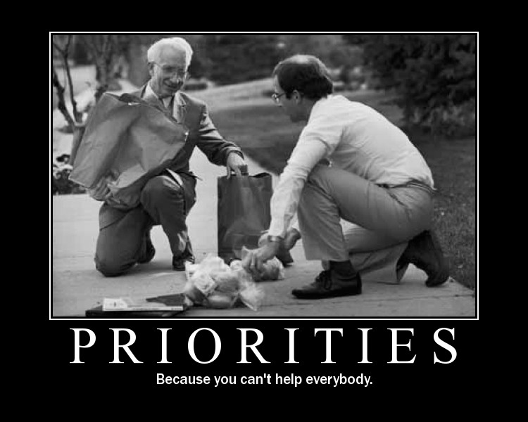 priorities: because you can't help everyone