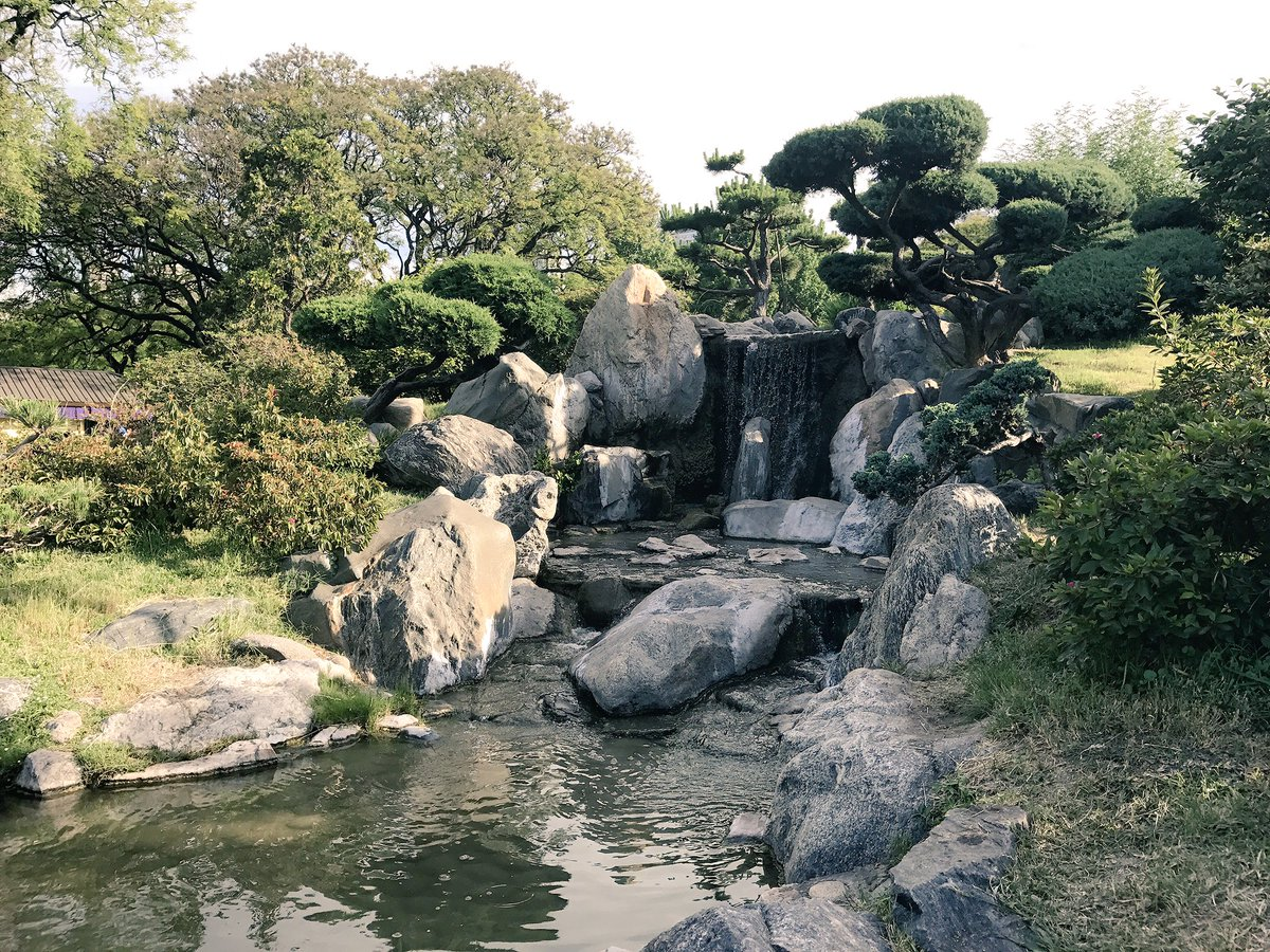 waterfall in the japanese garden